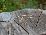Gold Forged Bracelet