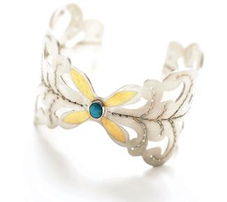 art jewellery silver cuff bracelet